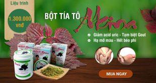 Akina plus – bột tía tô giảm acid uric, tạm biệt bệnh gout