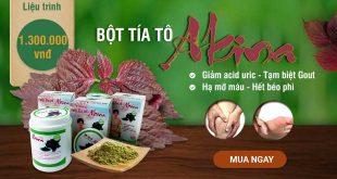 Bột tía tô Akina hỗ trợ điều trị các bệnh về xương khớp và gout