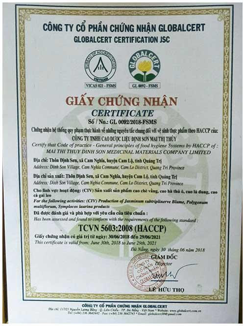 Certificate cao tiểu đường Mai Thị Thủy