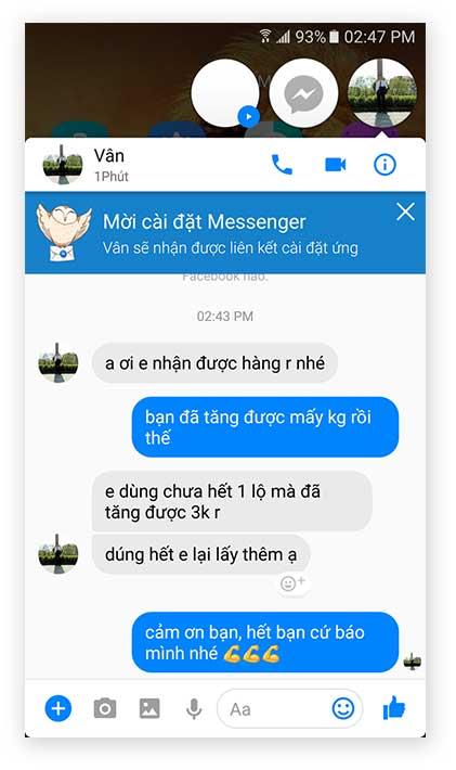 Chị Vân đánh giá viên tăng cân Hoa Bảo