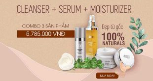 Cleanser Serum Moisture bộ ba sản phẩm làm đẹp