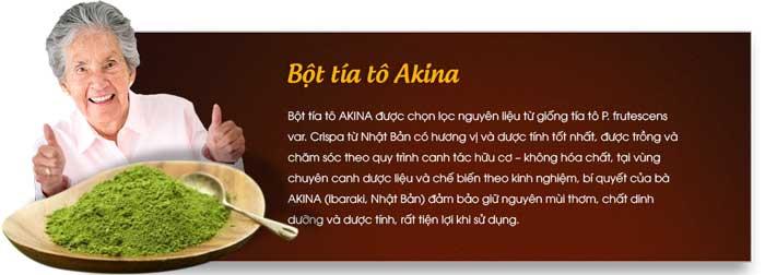 Công dụng bột tía tô Akina