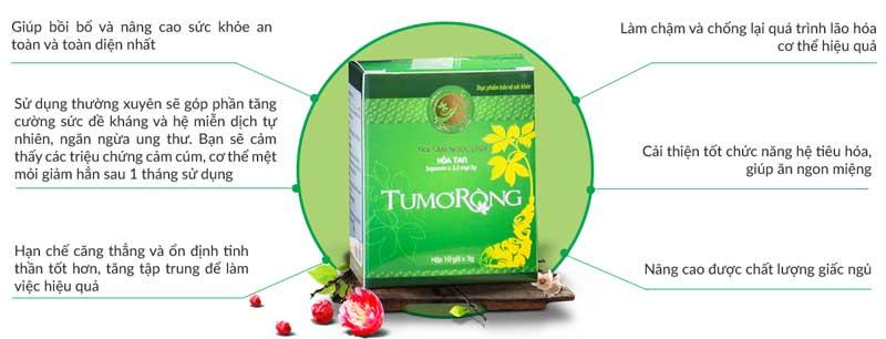 Công dụng trà sâm Tumorong
