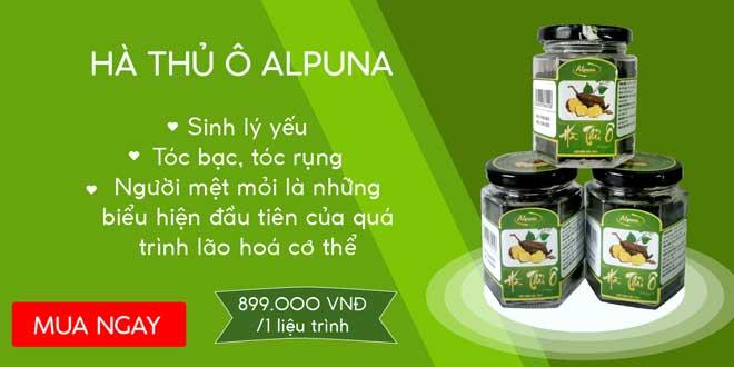 Hà thủ ô Alpuna hỗ trợ điều trị bạc tóc, rụng tóc