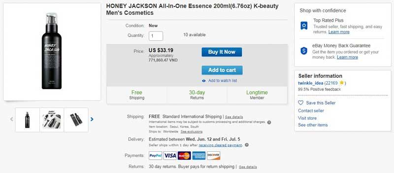 honey jackson bao nhiêu tiền