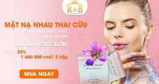 Mặt nạ nhau thai cừu Placenta Ample Mask Hàn Quốc