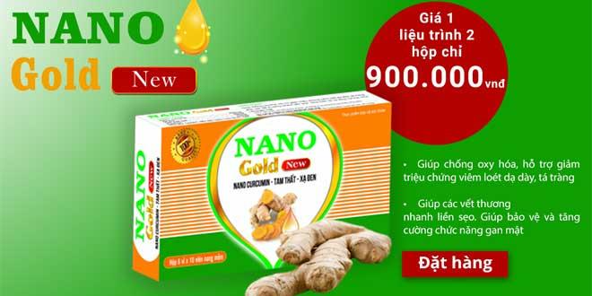 Nano Gold New điều trị viêm loét dạ dày, tá tràng