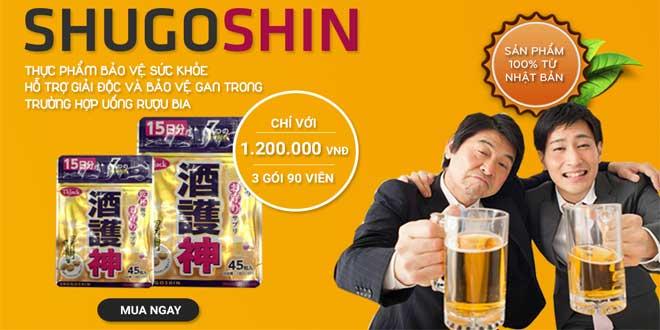ShugoShin giải rượu, giải độc gan số 1 nhật bản