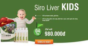 Siro liver kids hỗ trợ thanh nhiệt, giải độc gan cho bé