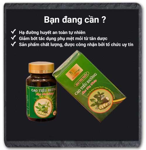 Tác dụng Cao tiểu đường Mai Thị Thủy
