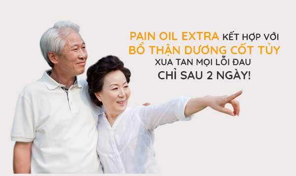 Tinh dầu ngải cứu Pain Oil Extra kết hợp Bổ Thận Dương Cốt Tủy giảm đau xương khớp