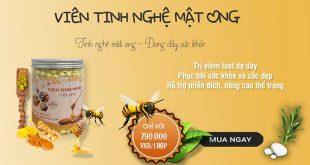 Viên Tinh Nghệ Mật Ong bảo vệ niêm mạc, chống viêm loét dạ dày, hành tá tràng